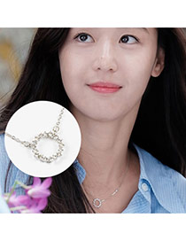 Elegant Silver Color Diamond Decorated The Legend Of The Blue Sea Necklace