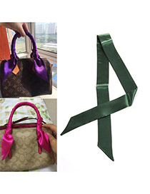 Fashion Army Green Pure Color Decorated Simple Bag Strip &scarf