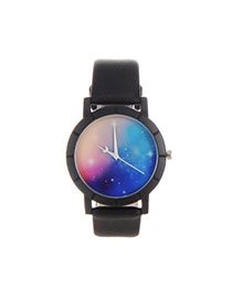 Personality Multi-color Sing Pettern Decorated Simple Wrist Watch