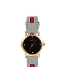 Personality White Color Matching Design Simple Wrist Watch