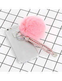Cute Pink Fuzzy Ball Decorated Iphone7 Simple Case