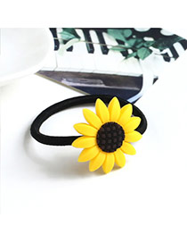 Sweet Yellow Sunflower Shape Decorated Simple Hair Band