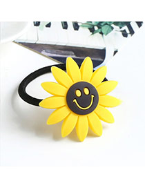 Sweet Yellow Smiling Face Decorated Sunflower Shape Hair Band