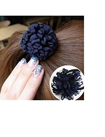Trendy Plum Red Pure Color Decorated Flower Shape Simple Hair Band