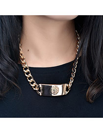 Fashion Gold Color Large Meatball Pattern Decorated Pure Color Choker