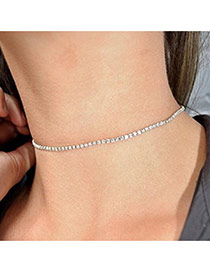 Fashion Plated Color Choker Of Pure Color In Shape Of Square