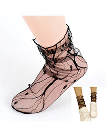 Trendy Black Transparent Socks Of Sexy Style