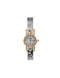 Fashion White Nakeskin Grain Strap Decorated Simple Wrist Watch