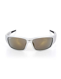 Personality Silver Color+light Gray Wing Pattern Decorated Simple Square Shape Sunglasses