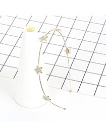 Fashion Silver Color Star Shape Decorated Pure Color Simple Hair Clasp