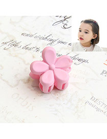 Fashion Pink Flower Decorated Pure Color Simple Hair Pin