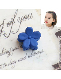 Fashion Sapphire Flower Decorated Pure Color Simple Hair Pin