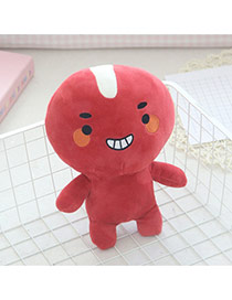 Cute Red Pure Color Decorated Simple Action Figures