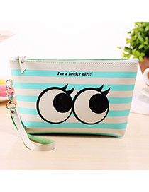 Fashion Blue+white Cartoon Pattern Decorated Square Shape Design Waterproof Bag