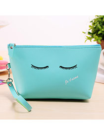 Fashion Blue Cartoon Pattern Decorated Square Shape Design Waterproof Bag