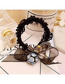 Elegant Black Round Ball&bowknot Decorated Simple Hair Band