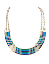 Personalized Multi-color Color Matching Decorated Arch Shape Necklace