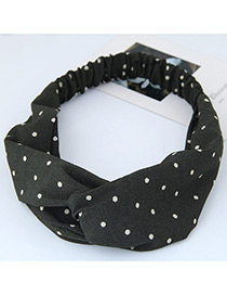 Fashion Green Round Dot Decorated Simple Wide Hair Band