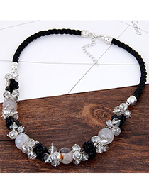 Fashion Multi-color Flower Shape Decorated Color Matching Simple Necklace