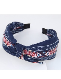 Fashion Navy Color-matching Decorated Rabbit's Ears Design Hair Clasp