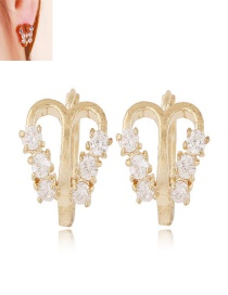 Sweet Gold Color Butterfly Decorated Hollow Out Earrings