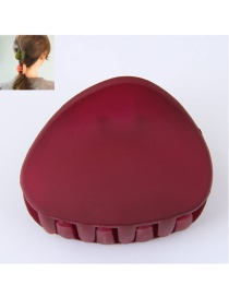 Fashion Dark Red Triangle Shape Decorated Pure Color Hair Clip