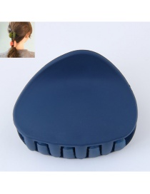 Fashion Navy Triangle Shape Decorated Pure Color Hair Clip