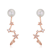 Fashion Zircon Star Shape Decorated Earrings