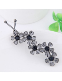 Fashion Gray Flower Decorated Pure Color Hairpin