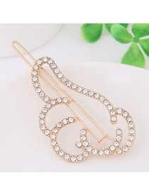 Fashion Gold Color Full Diamond Decorated Gesture Shape Hairpin