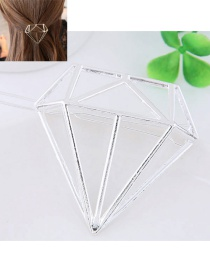 Fashion Silver Color Pure Color Decorated Geometric Shape Hairpin