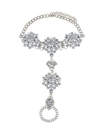 Fashion Silver Color Oval Shape &round Shape Diamond Decorated Simple Anklet
