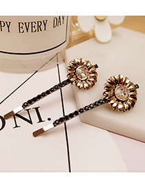 Vintage White Flower Decorated Color Matching Simple Hair Pin (2pcs)