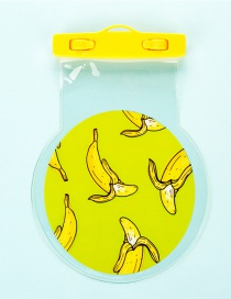 Fashion Yellow Banana Pattern Decorated Pure Color Waterproof Phone Cover