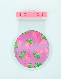 Fashion Light Pink Strawberry Pattern Decorated Color Matching Waterproof Phone Cover