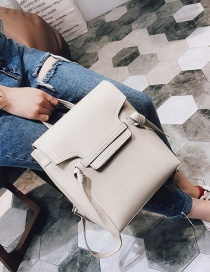 Lovely White Catfish Shape Decorated Simple Pure Color Backpack