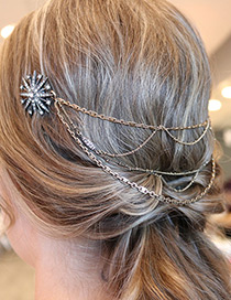 Fashion Gold Color Metal Tassel Pendant Decorated Simple Hairpin
