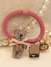Lovely Gray Bear&box Decorated Color Matching Simple Hair Band