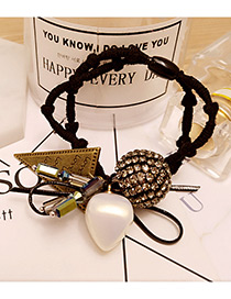 Fashion Gold Color Round Balls&bowknot Decorated Double Layer Hair Band