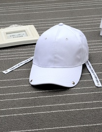 Fashion White Letter Pattern Decorated Pure Color Simple Baseball Cap