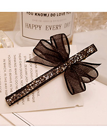 Elegant Gray Bowknot Shape Decorated Simple Long Hairpin