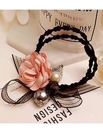 Elegant Pink Flower Shape &round Shape Decorated Simple Hair Band