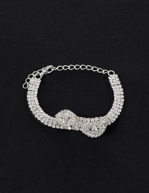 Elegant Silver Color Watershape Shape Decorated Simple Pure Color Bracelet