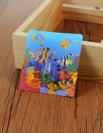 Fashion Multi-color Fish Pattern Decorated Simple Sticky Hook