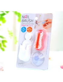 Fashion Pink Color-matching Decorated Simpe Wash Brush
