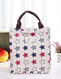 Fashion Multi-color Stars Pattern Decorated Square Shape Waterproof Handbag