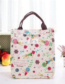 Fashion Multi-color Flowers Pattern Decorated Square Shape Waterproof Handbag
