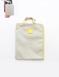 Fashion Gray Grid Pattern Decorated Pure Color Simple Briefcase