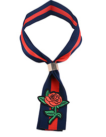 Vintage Blue+red Rose Shape Decorated Simple Color-matching Choker