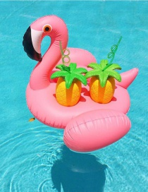 Lovely Pink Flamingo Shape Decorated Simple Four-cup Base